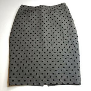 White House Black Market SZ 4 Black Polka Dot